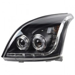 Paire phares Angel eyes Toyota land cruiser KDJ 120 ou 125 chrome noir