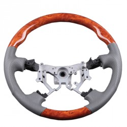 Volant pour Toyota LandCruiser KDJ120 cuir gris