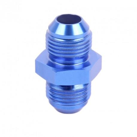 Union double égal JIC AN4/AN6/AN8/AN10 en aluminium anodisé bleu