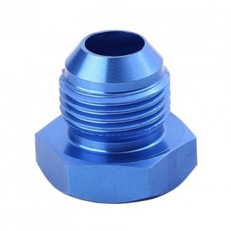 Bouchon JIC en aluminium anodisé bleu AN4/AN6/AN8/AN10/AN12