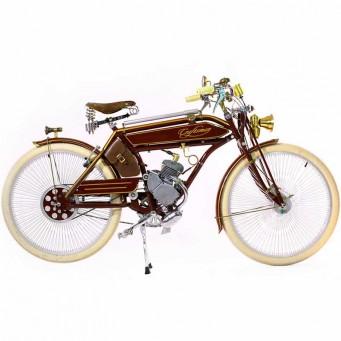 Craftsman Motorcycle, saveurs d'antan le vélocipède motorisé des années 20 - couleur marron