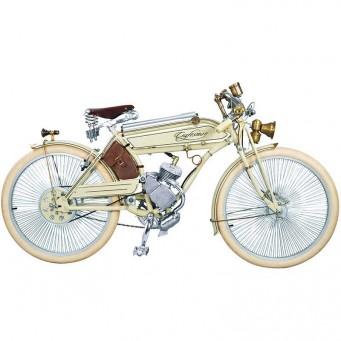 Craftsman Motorcycle, saveurs d'antan le vélocipède motorisé des années 20 - couleur blanc