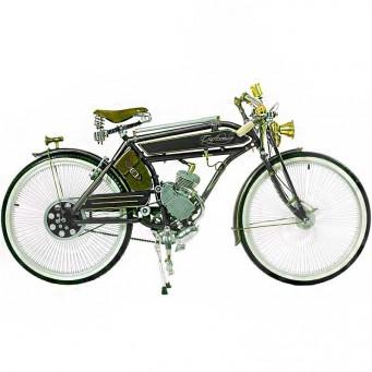 Craftsman Motorcycle, saveurs d'antan le vélocipède motorisé des années 20 - couleur noir