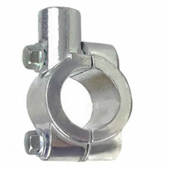 Support de fixation en aluminium pour rétroviseur sur guidon, finition gris