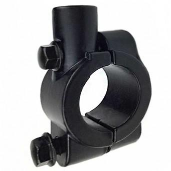 Support de fixation en aluminium pour rétroviseur sur guidon, finition noir