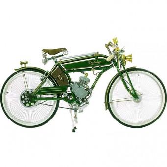 Craftsman Motorcycle, saveurs d'antan le vélocipède motorisé des années 20 - couleur vert