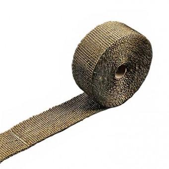 Bande thermique pour tubulure d'échappement longueur 10m larg 5cm couleur titane