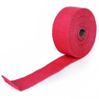 Bande thermique pour tubulure d'échappement longueur 10m larg 5cm couleur rouge
