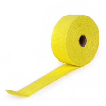 Bande thermique pour tubulure d'échappement largeur 5cm couleur jaune