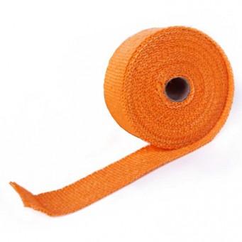 Bande thermique pour tubulure d'échappement largeur 50mm couleur orange