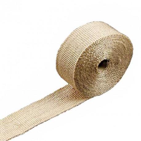 Bande thermique pour tubulure d'échappement largeur 5cm couleur beige