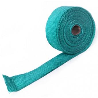 Bande thermique pour tubulure d'échappement largeur 50mm couleur turquoise