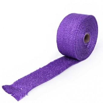 Bande thermique pour tubulure d'échappement largeur 5cm couleur violet
