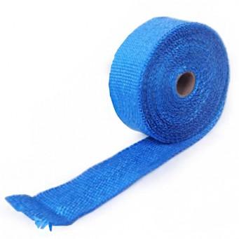 Bande thermique pour tubulure d'échappement largeur 5cm couleur bleu