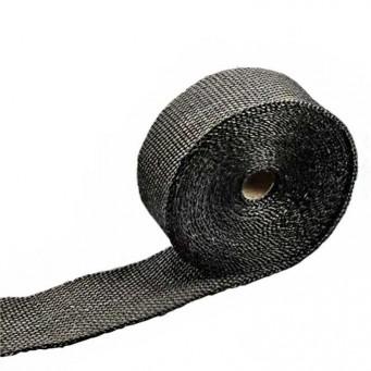 Bande thermique pour tubulure d'échappement largeur 5cm couleur noir