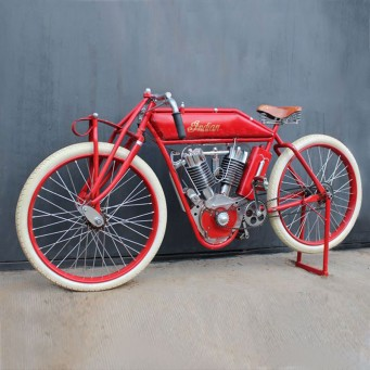 Réplique Indian motorcycle 1000cc boardtrack 1913 type F ou Powerplus