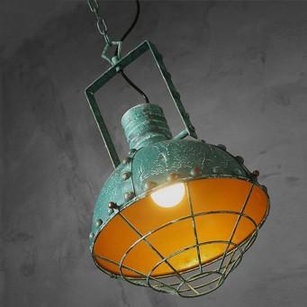 Luminaire vintage de couleur pour une suspension design