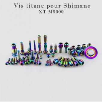 Kit vis titane pour Shimano XT M8000 42 pièces - couleur rainbow