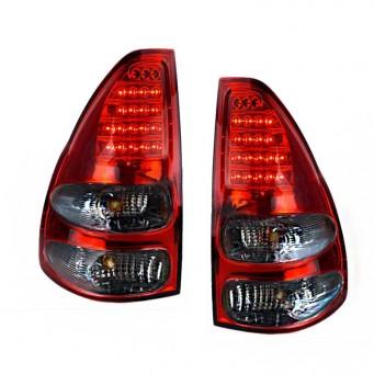 Paire feux arrière LED pour Toyota land cruiser KDJ 120 / 125 rouge smoke