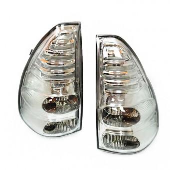 Paire feux arrière LED pour Toyota land cruiser KDJ 120 / 125 cristal blanc