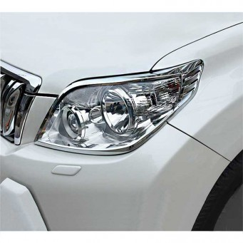 Lignage chromé pour les phares Toyota land cruiser KDJ 150 ou 155