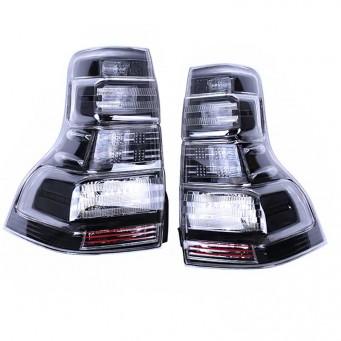 Paire feux arrière LED pour Toyota land cruiser KDJ 150 / 155 black smoke