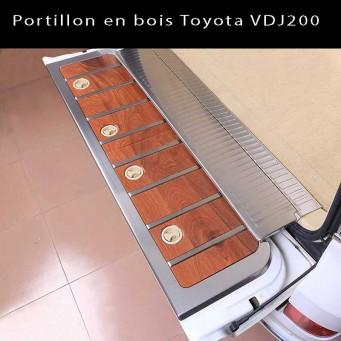 Portillon en bois Toyota VDJ200 pour hayon de porte arrière avec placage en inox