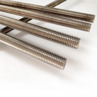 Tige filetée titane M20 pas de 2.5 mm grade T40 longueur 1 mètre
