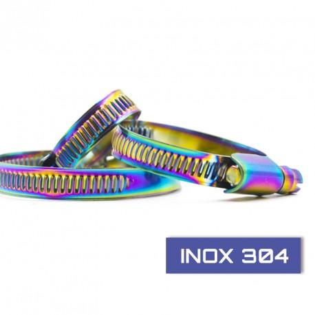 Collier en acier inoxydable un set de 4 serre câbles largeur 16mm, longueur suivant déclinaison