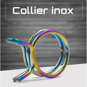 Collier de durite d'essence en acier inoxydable couleur arc-en-ciel diamètre suivant déclinaison