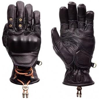 Gant cuir Fogy Hobart pour moto motard couleur black