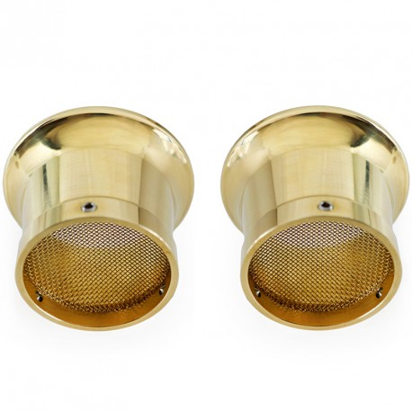 Filtre à air vintage type champignon avec vieux rivet Ø 33mm à 600mm