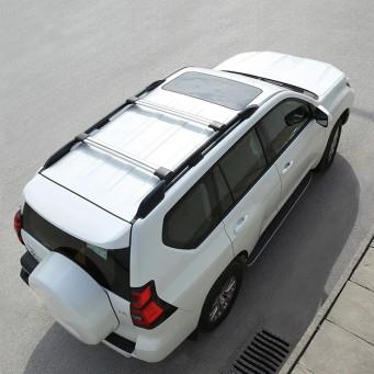 Barres de toit transversale pour Toyota land cruiser KDJ 150 couleur noir ou argent