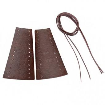 Bande de cuir perforée pour levier de moto couleur marron foncée