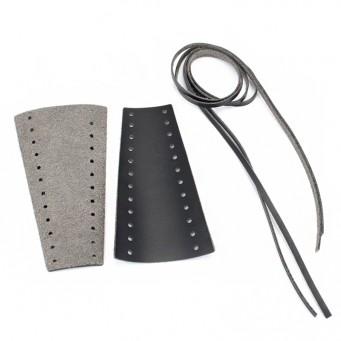 Bande de cuir perforée pour levier de moto - couleur noir