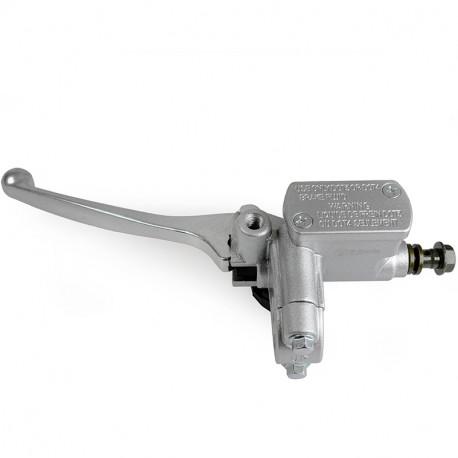 Leviers avec maître-cylindre poignée de frein ou d'embrayage couleur alu gris