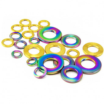 Vis titane M5 grade 5 CHC multiple couleurs