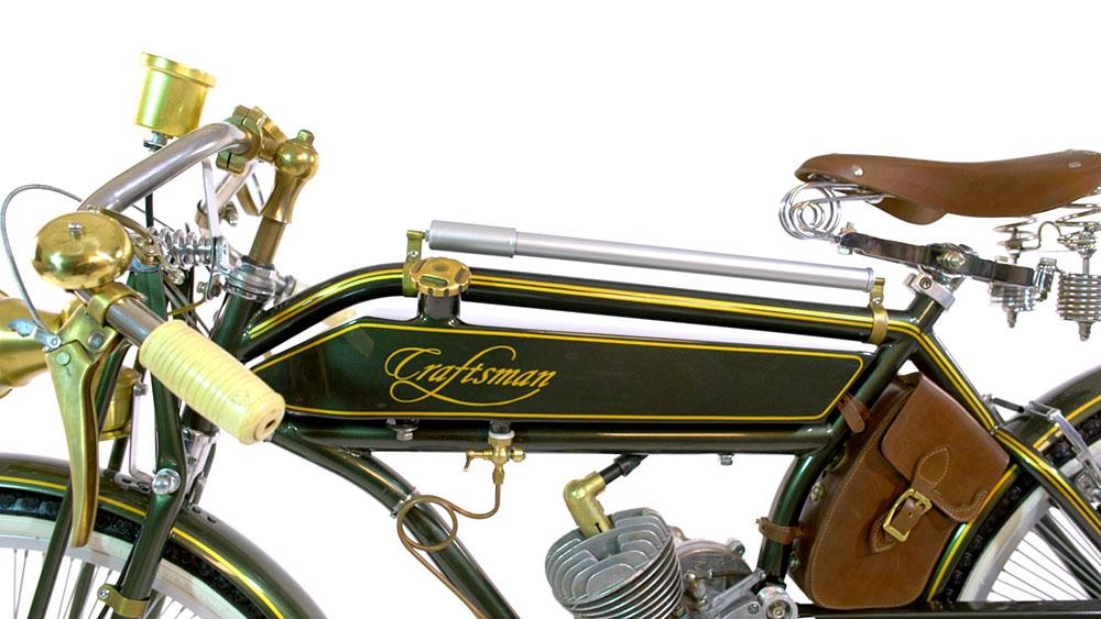 Bouchon de reservoir moto en laiton sur Craftsman