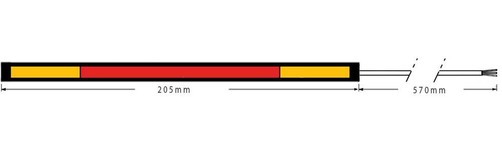 Dimension du ruban LED moto