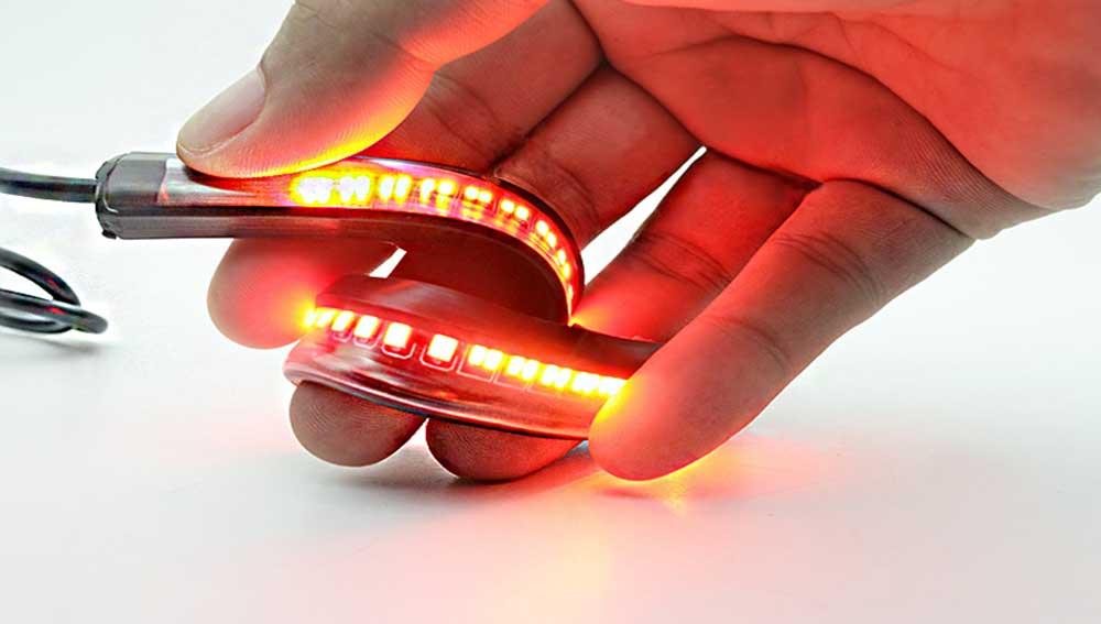 Ruban LED flexible feux arriere moto